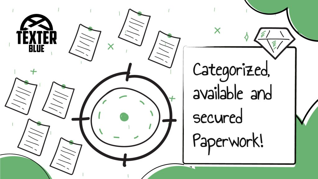 Categorized, available and secure Paperwork!